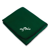 Dark Green Arctic Fleece Blanket-Eagle Lake