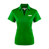 Ladies Kelly Green Performance Fine Jacquard Polo-NAVS