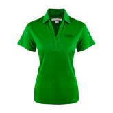 Ladies Kelly Green Performance Fine Jacquard Polo-NAVS Tone