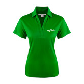 Ladies Kelly Green Performance Fine Jacquard Polo-Eagle Lake