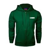 Dark Green Fleece Full Zip Hood-NAVS