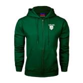 Dark Green Fleece Full Zip Hood-Glen Eyrie