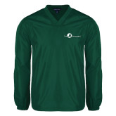 V Neck Dark Green Raglan Windshirt-The Navigators