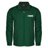 Full Zip Dark Green Wind Jacket-NAVS