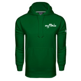 Under Armour Dark Green Performance Sweats Team Hoodie-Eagle Lake