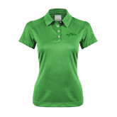 Ladies Nike Dri Fit Vibrant Green Pebble Texture Sport Shirt-Eagle Lake Tone