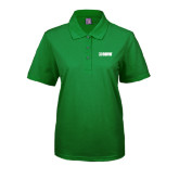 Ladies Easycare Kelly Green Pique Polo-NAVS