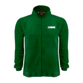Fleece Full Zip Dark Green Jacket-NAVS