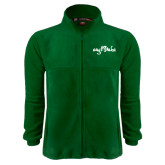 Fleece Full Zip Dark Green Jacket-Eagle Lake