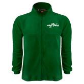 Fleece Full Zip Dark Green Jacket-Eagle Lake