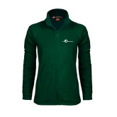 Ladies Fleece Full Zip Dark Green Jacket-The Navigators