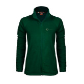 Ladies Fleece Full Zip Dark Green Jacket-The Navigators Tone