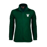 Ladies Fleece Full Zip Dark Green Jacket-Glen Eyrie