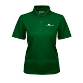 Ladies Dark Green Dry Mesh Polo-The Navigators