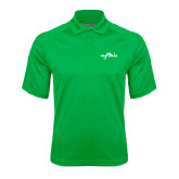 Kelly Green Textured Saddle Shoulder Polo-Eagle Lake
