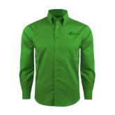 Red House Green Herringbone Non Iron Long Sleeve Shirt-The Navigators Tone