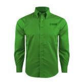 Red House Green Herringbone Long Sleeve Shirt-NAVS Tone
