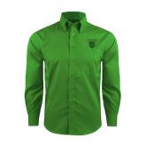 Red House Green Herringbone Non Iron Long Sleeve Shirt-Glen Eyrie Tone
