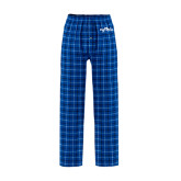 Royal/White Flannel Pajama Pant-Eagle Lake