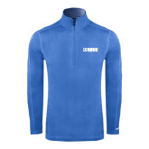 Nike Sphere Dry 1/4 Zip Light Blue Cover Up-NAVS
