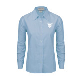 Ladies Light Blue Oxford Shirt-Glen Eyrie