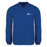 V Neck Royal Raglan Windshirt-The Navigators