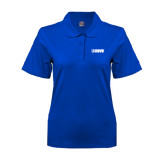 Ladies Easycare Royal Pique Polo-NAVS
