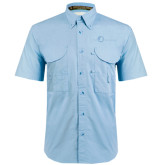 Light Blue Short Sleeve Performance Fishing Shirt-The Navigators Tone