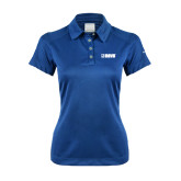 Ladies Nike Dri Fit Royal Pebble Texture Sport Shirt-NAVS Tone