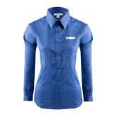 Ladies Red House French Blue Long Sleeve Shirt-NAVS