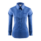 Ladies Red House French Blue Long Sleeve Shirt-NAVS Tone