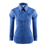 Ladies Red House French Blue Long Sleeve Shirt-Glen Eyrie Tone
