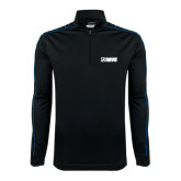 Nike Golf Dri Fit 1/2 Zip Black/Royal Cover Up-NAVS