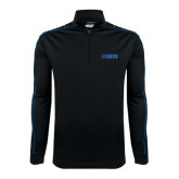 Nike Golf Dri Fit 1/2 Zip Black/Royal Cover Up-NAVS Tone