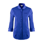 Ladies Red House French Blue 3/4 Sleeve Shirt-NAVS Tone