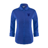 Ladies Red House French Blue 3/4 Sleeve Shirt-Glen Eyrie Tone