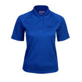 Ladies Royal Textured Saddle Shoulder Polo-NAVS Tone