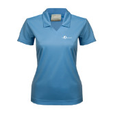 Ladies Nike Golf Dri Fit Light Blue Micro Pique Polo-The Navigators Tone