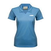 Ladies Nike Golf Dri Fit Light Blue Micro Pique Polo-NAVS Tone