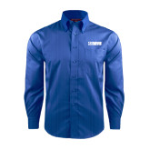 Red House French Blue Dobby Long Sleeve Shirt-NAVS
