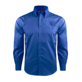 Red House French Blue Dobby Long Sleeve Shirt-Glen Eyrie Tone