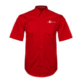 Red Twill Button Down Short Sleeve-The Navigators