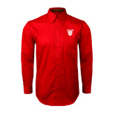 Red Twill Button Down Long Sleeve-Glen Eyrie