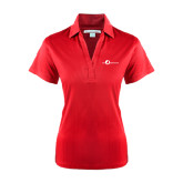 Ladies Red Performance Fine Jacquard Polo-The Navigators