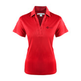 Ladies Red Performance Fine Jacquard Polo-The Navigators Tone