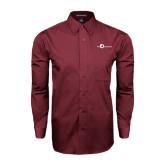 Maroon Tonal Pattern Long Sleeve Shirt-The Navigators