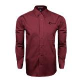 Maroon Tonal Pattern Long Sleeve Shirt-The Navigators Tone