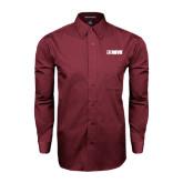 Maroon Tonal Pattern Long Sleeve Shirt-NAVS