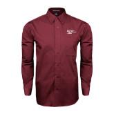 Maroon Tonal Pattern Long Sleeve Shirt-Discipling For Development