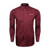 Maroon Tonal Pattern Long Sleeve Shirt-Navmissions